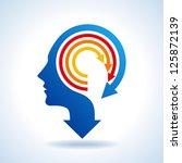 vector of business mind | Shutterstock .eps vector #125872139