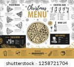 hand drawing christmas holiday... | Shutterstock .eps vector #1258721704