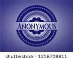 anonymous badge with denim...   Shutterstock .eps vector #1258728811