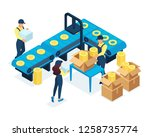 isometric concept in production ... | Shutterstock .eps vector #1258735774