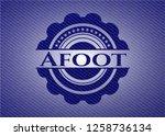 afoot badge with denim...   Shutterstock .eps vector #1258736134