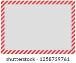 red diagonal bands along the... | Shutterstock . vector #1258739761