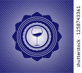 wine cup icon inside badge with ...   Shutterstock .eps vector #1258743361
