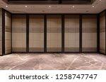 fabric panels door covered... | Shutterstock . vector #1258747747