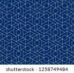 abstract geometric pattern with ... | Shutterstock .eps vector #1258749484