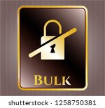 shiny badge with inaccessible...   Shutterstock .eps vector #1258750381