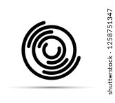 round logo with a black circles ... | Shutterstock .eps vector #1258751347