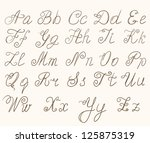 handwritten abc | Shutterstock . vector #125875319