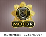 gold badge with book icon and...   Shutterstock .eps vector #1258757017