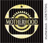 motherhood gold shiny badge   Shutterstock .eps vector #1258757041