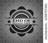 end of season sale dark badge   Shutterstock .eps vector #1258757281