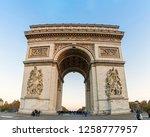 paris  france   november 17 ...   Shutterstock . vector #1258777957