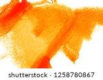 watercolor background orange... | Shutterstock . vector #1258780867