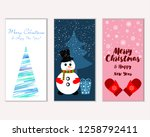 merry christmas and happy new... | Shutterstock .eps vector #1258792411