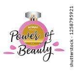 power of beauty. perfume t... | Shutterstock .eps vector #1258795921