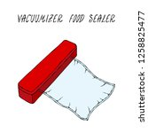 vacuumizer food sealer with... | Shutterstock .eps vector #1258825477