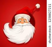 santa head on red | Shutterstock .eps vector #1258827211