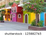 colorful apartment building in... | Shutterstock . vector #125882765