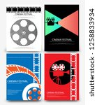 set of abstract movie and film... | Shutterstock .eps vector #1258833934