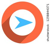 arrow sign direction icon in... | Shutterstock .eps vector #1258844371
