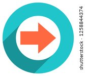 arrow sign direction icon in... | Shutterstock .eps vector #1258844374