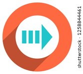 arrow sign direction icon in... | Shutterstock .eps vector #1258844461