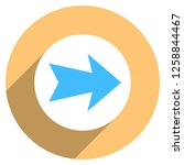 arrow sign direction icon in... | Shutterstock .eps vector #1258844467