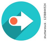 arrow sign direction icon in... | Shutterstock .eps vector #1258844524