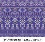 navajo american indian pattern... | Shutterstock .eps vector #1258848484