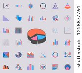 3d pie chart icon. charts  ... | Shutterstock . vector #1258877764