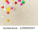 beautiful silver holiday... | Shutterstock . vector #1258905547