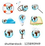 different earth designs set... | Shutterstock . vector #125890949