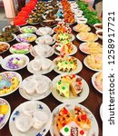 Sweets In A Tiled Dish Arrange...