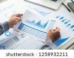 businessman working data... | Shutterstock . vector #1258932211