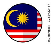 flag malaysia   flat style... | Shutterstock .eps vector #1258932457