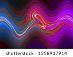 multicolor glowing twisted... | Shutterstock . vector #1258937914