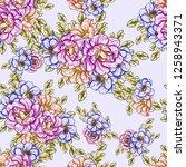 flower print. elegance seamless ... | Shutterstock .eps vector #1258943371