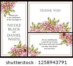 vintage delicate greeting... | Shutterstock .eps vector #1258943791