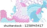 abstract vector background dot... | Shutterstock .eps vector #1258945417