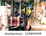 Forklift Driver In Protective...