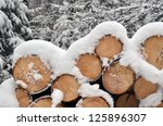 Winter Timber Stack