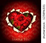 valentine heart card design....   Shutterstock .eps vector #125896331