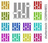 mixer icon in multi color....