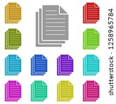 three file document icon in...