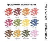 spring summer 2019 color...   Shutterstock .eps vector #1258975567