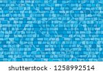 swimming pool with mosaic tiles.... | Shutterstock .eps vector #1258992514