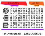 online icon set. 120 filled... | Shutterstock .eps vector #1259005501