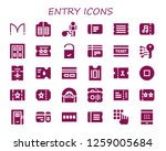 entry icon set. 30 filled... | Shutterstock .eps vector #1259005684