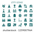 city icon set. 30 filled city... | Shutterstock .eps vector #1259007964