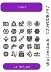 part icon set. 25 filled part...   Shutterstock .eps vector #1259008747